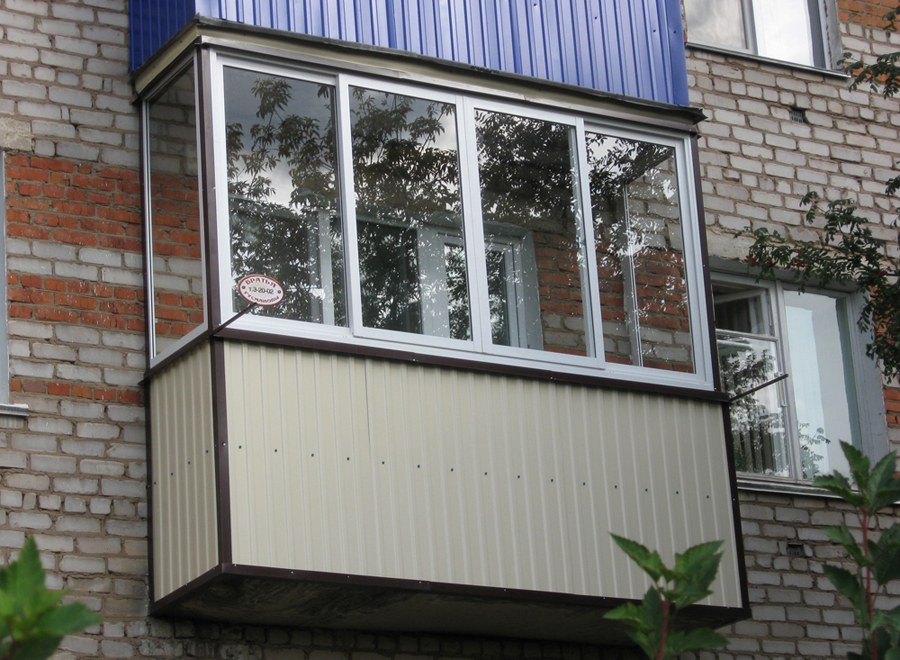 Отделка балконов и лоджий оцинкованной жестью в санкт-петерб.